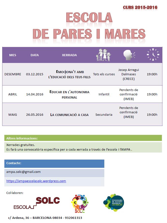 Xerrades 2015-2016